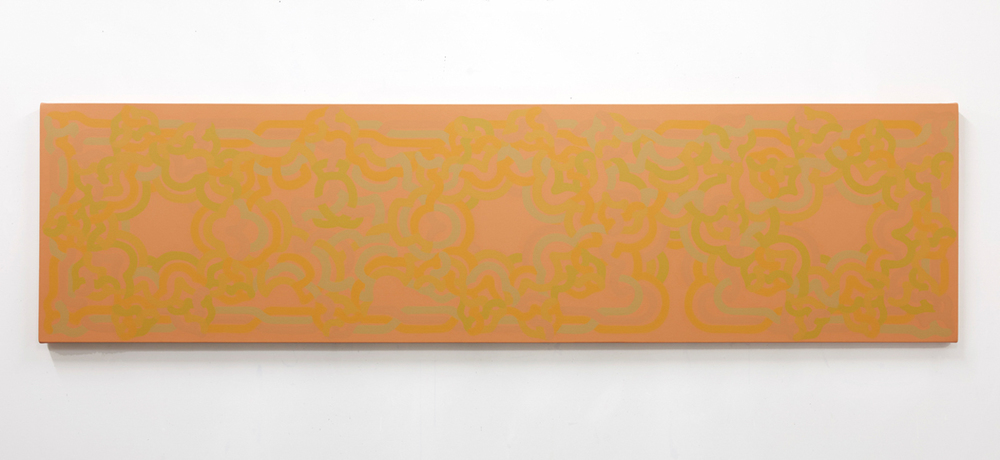 DARKKILLER//STARLIGHTER, 2015, acrylic on canvas, 30 x 115 inches