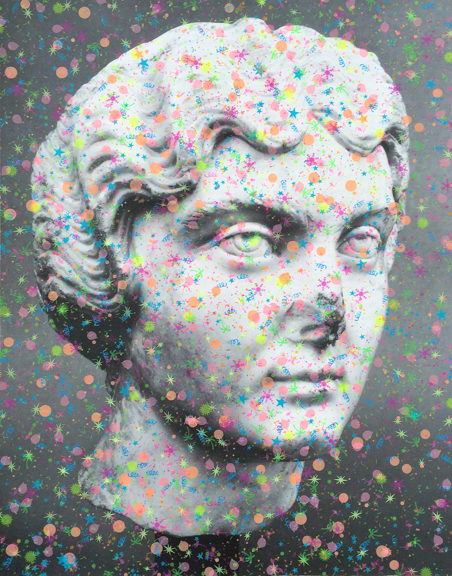 Party Girl (Faustina the Younger),  2015, silkscreen on archival inkjet print, 37x29 inches