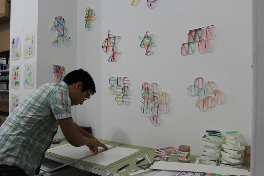 Alex in his Brooklyn studio