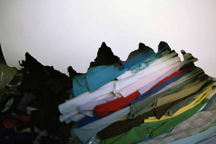 Untitled (clothes, mountain),  2007, digital c-print, 40 x 48 inches