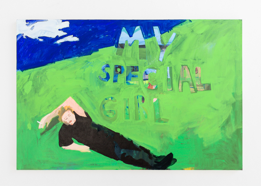 Your Special Girl , 2015, Acrylic and Flashe on Canvas, 40x60 inches