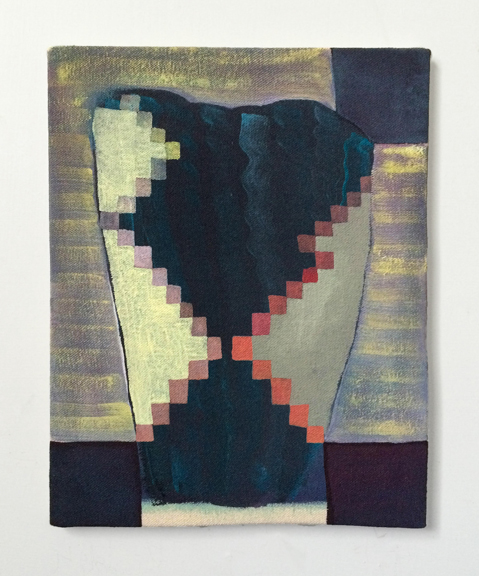 Untitled (Bad Figure) , 2015. Acrylic on Canvas over Panel 10 x 8 inches