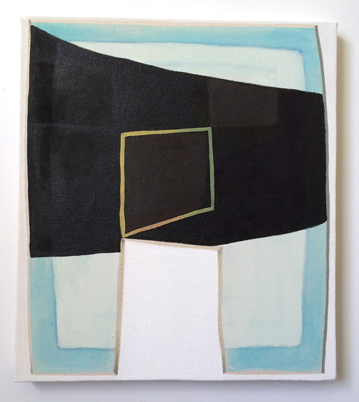 Untitled (Blue Black),  2015. Acrylic on Canvas over Panel 10 x 8 inches