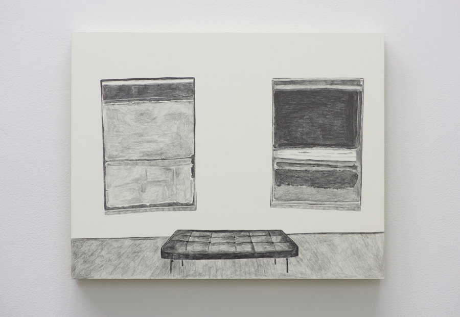 "Rothkos  (MoMA), 2016, pencil on claybord panel, 11"" X 14"""