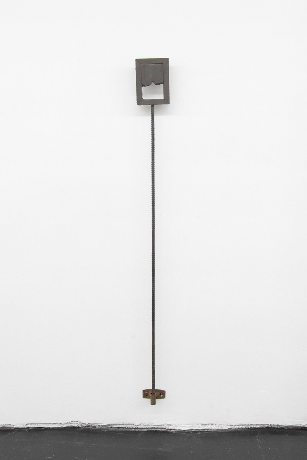 Site , 2015, oil on plaster and wood with rebar and steel, 55 x 5 x 9.5 inches