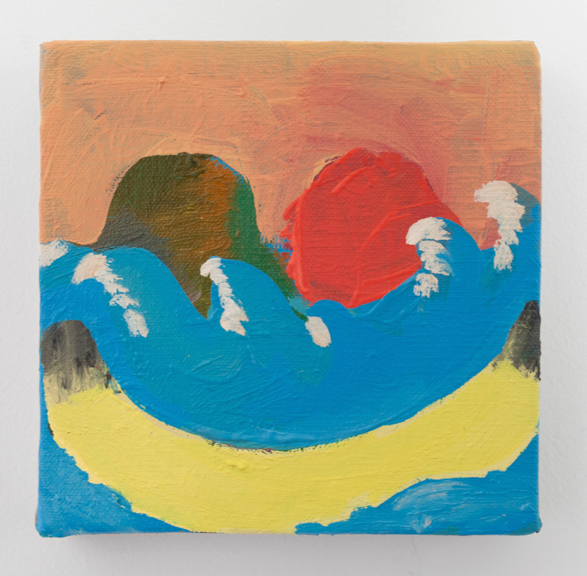 Banana Boat,  2016, oil on linen, 6 x 6 inches