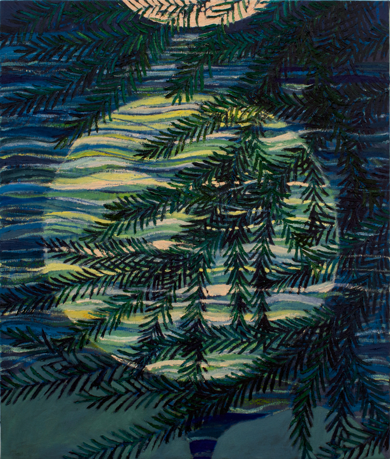 Moon Water  2017 oil on canvas 24in x 22in