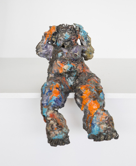 Demeter Searching , 2016, Raku Ware. 12 by 14 by 20 Inches
