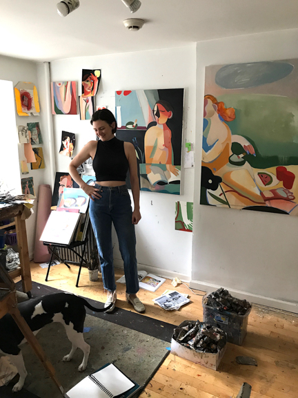 Danielle in her studio.