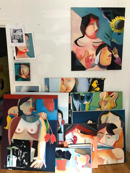 Danielle's studio.