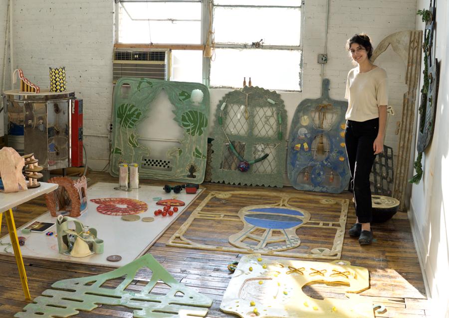 Sacha in her studio.
