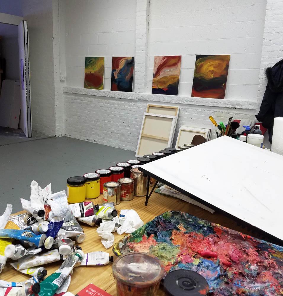 A view of Joy's studio.