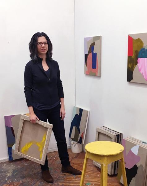 Erin in her studio.