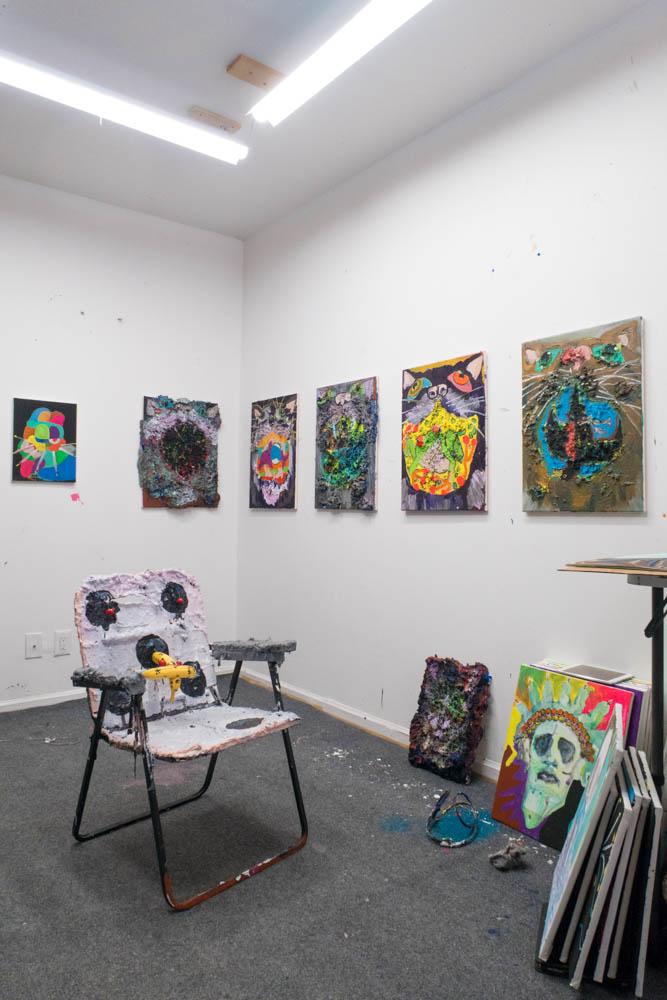 A shot of Philip's studio.