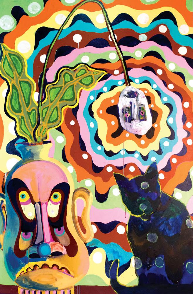 "Losing My Religion  2017, acrylic on canvas 72""x48"