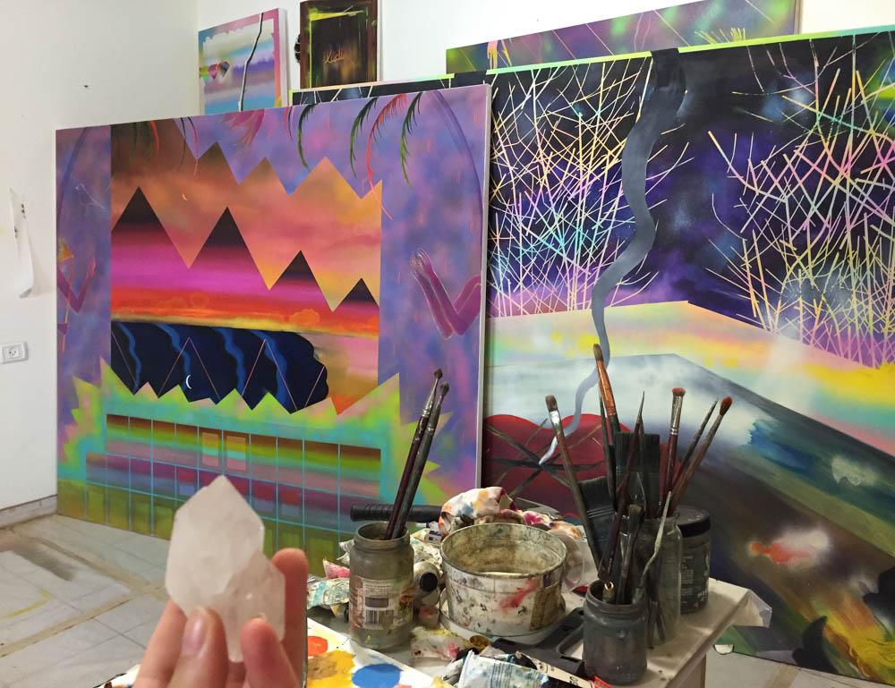 Sharona's studio.