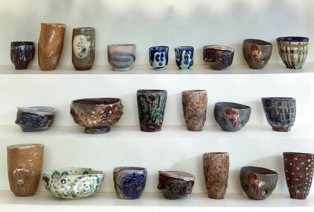 Photo of Zuzka's vessels on display.