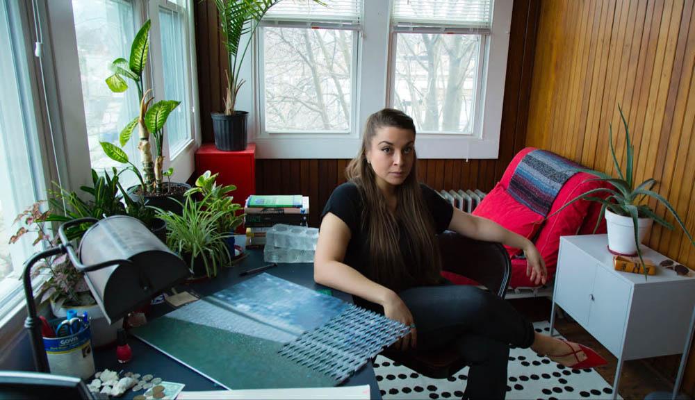 Barbara in the studio.