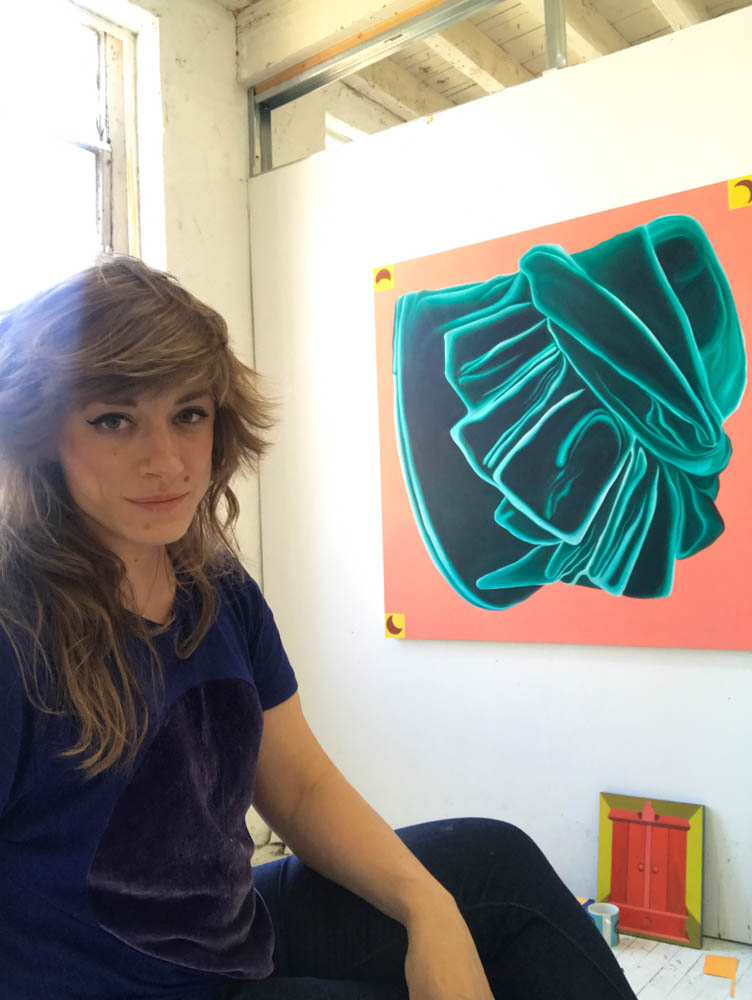 Caitlin in her studio.