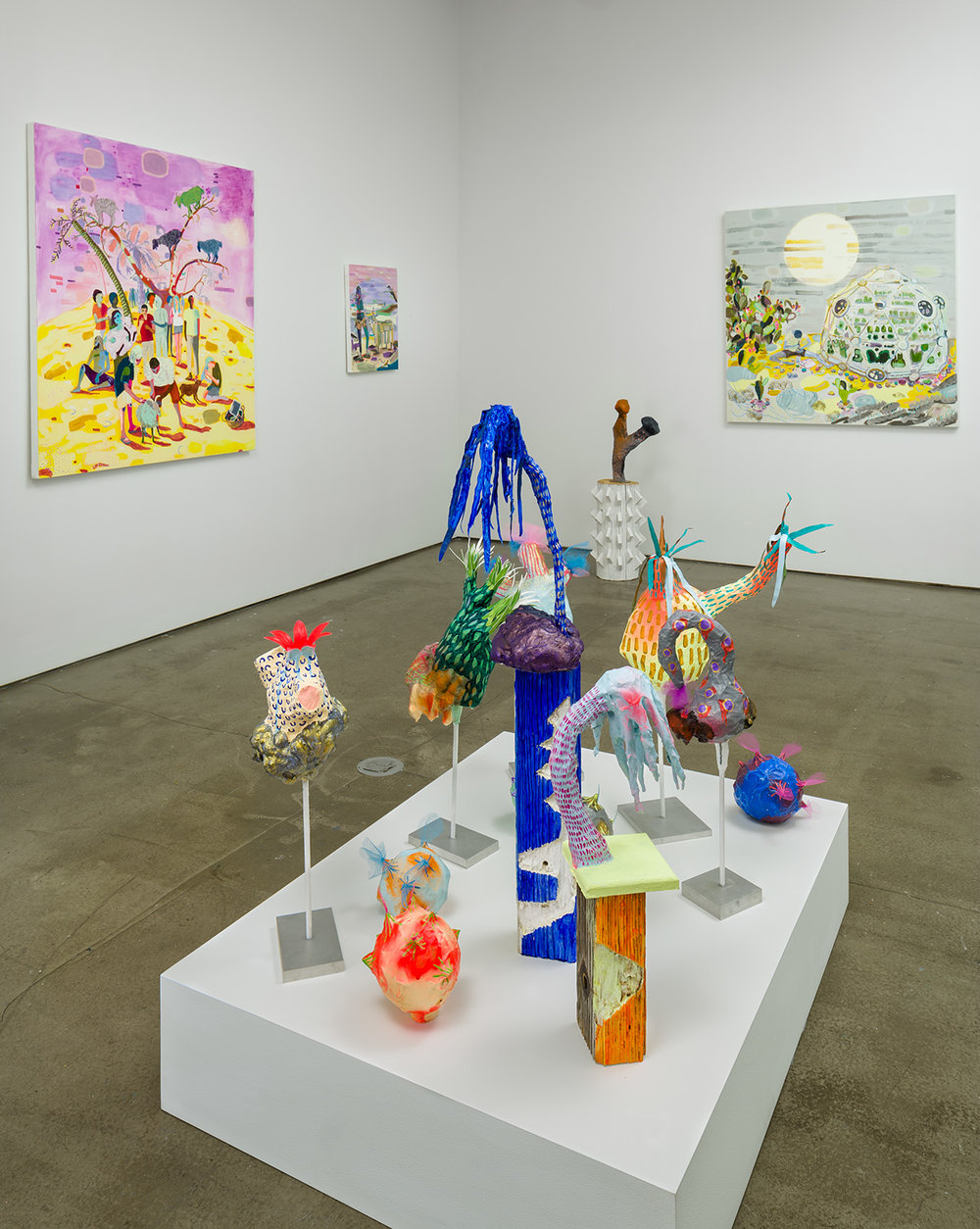 Installation shot: Melanie Daniel,  Late Bloomers  at Asya Geisberg in Chelsea