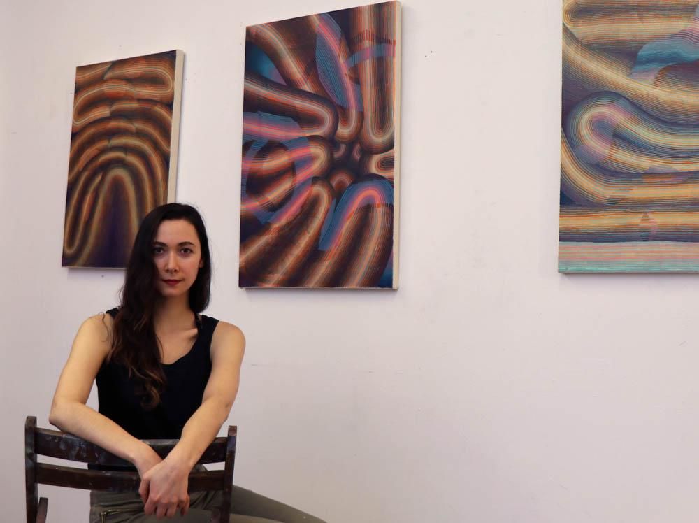 Theresa in her Ridgewood studio.