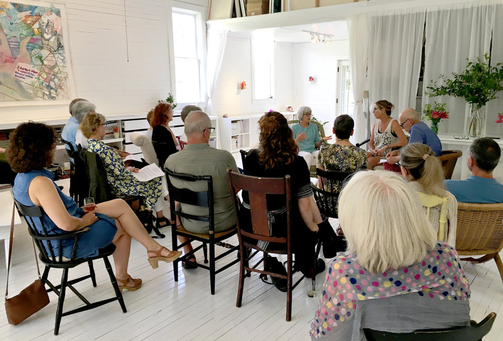 Dialogue with Carol C. Spaulding & Angela Saxon Moderated by Richard Kooyman for  Rock Cashmere Sweater  in June 2018