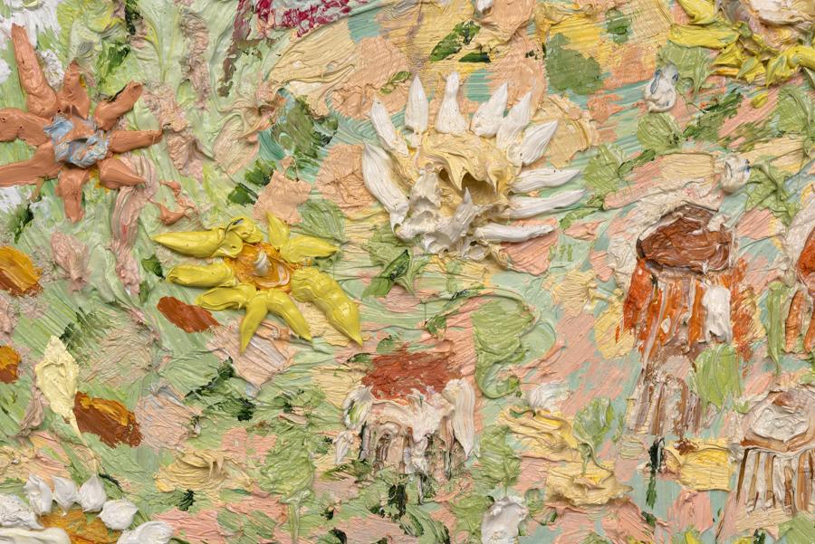 Centaurette in Forest , 2015 (detail). Oil on linen, 79 × 90 inches.