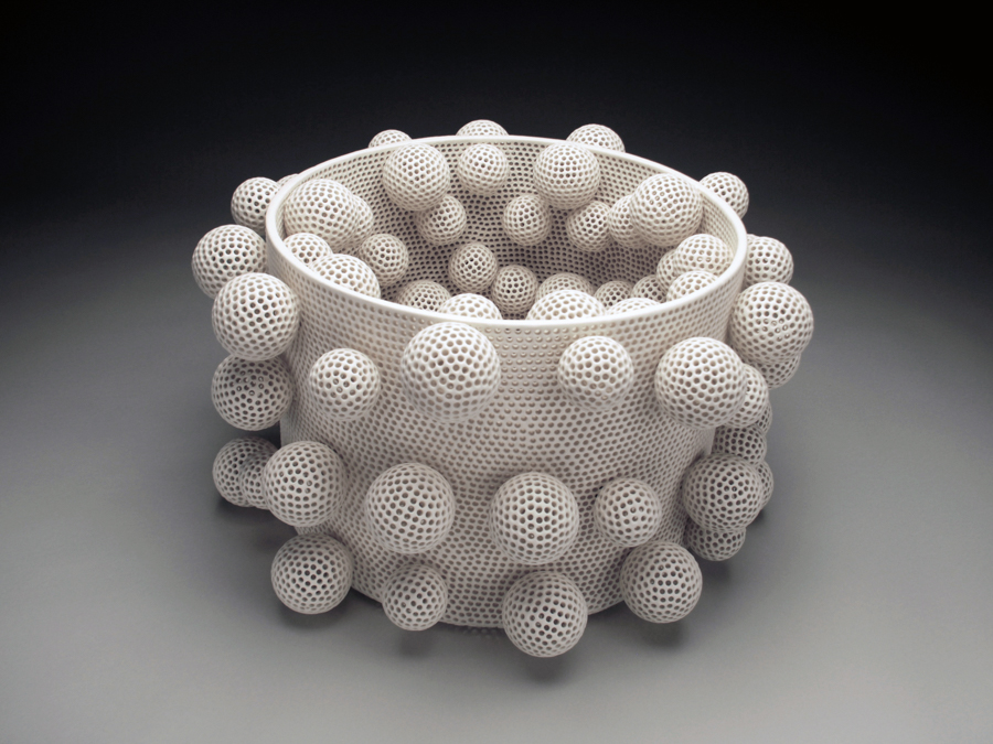 Perforated Vessel with Attachments , 2009.  12 × 20 inches