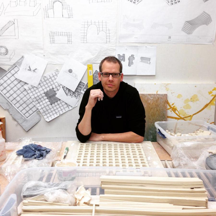Peter working in the studio