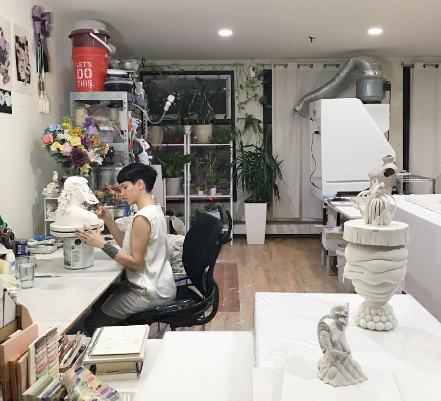 Jessica in her Brooklyn studio
