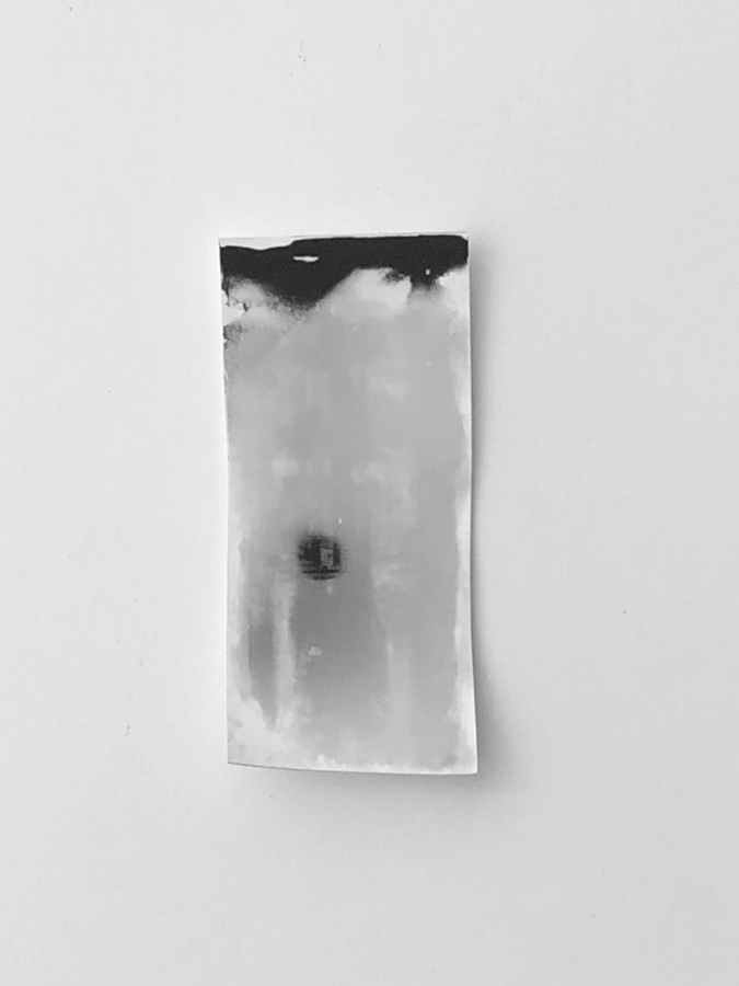 Self Portrait , Silver Gelatin, # 1, 4x2 inches