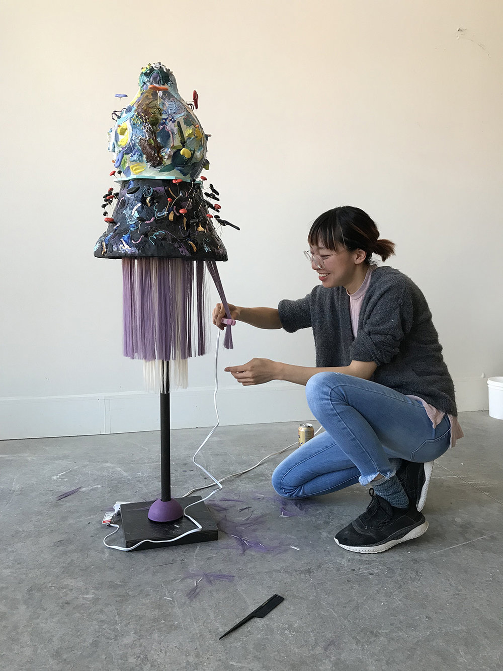 Ling with her work