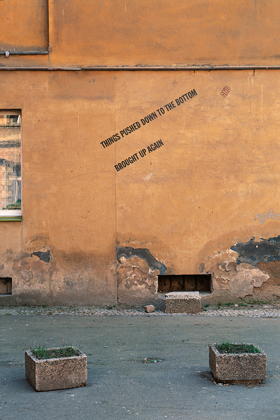 Lawrence Weiner<br><i>Text Tattoos</i><br>1996<br>Prague, The Czech Republic