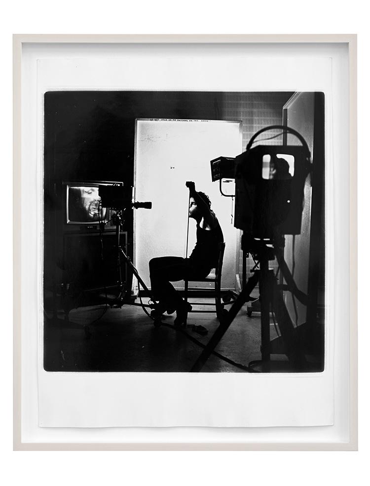 Denis Masi   Lip Smear 1  Performance for the camera 1970 Black & white photograph 57cm x 47cm x 4cm
