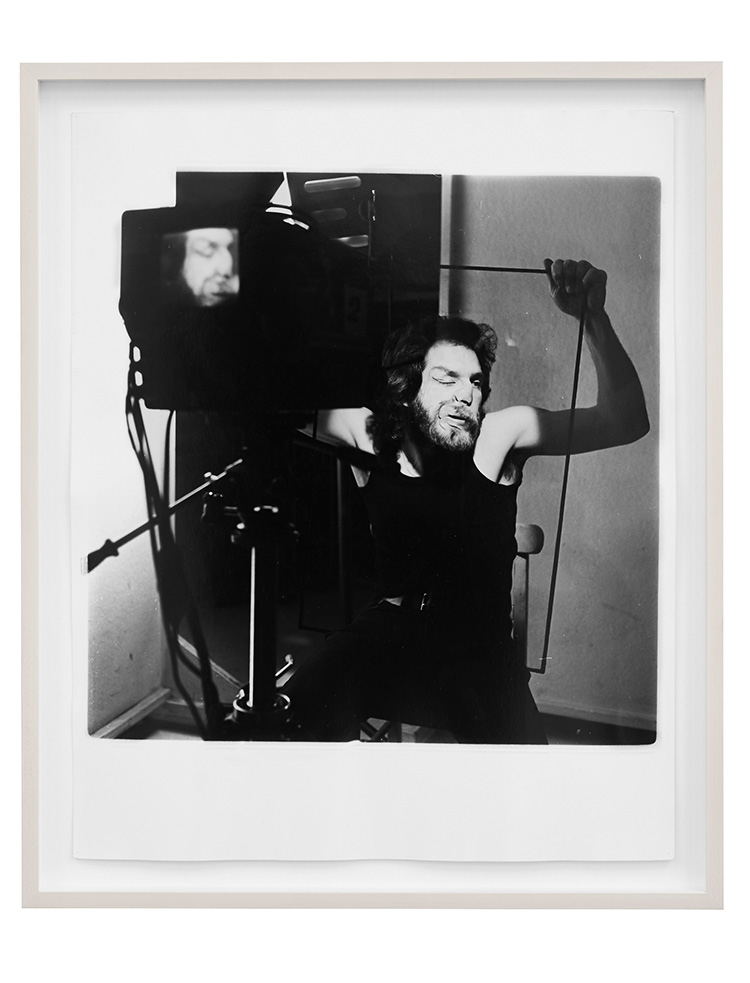 Denis Masi   Lip Smear 2  Performance for the camera 1970 Black & white photograph 56.5cm x 47cm x 4cm