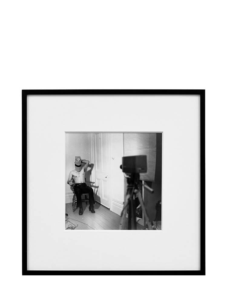 Denis Masi   Performing for the Camera  1970 Black & white photograph 37cm x 36.5cm x 3cm