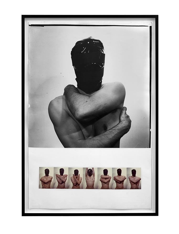 Denis Masi   Artist Performing for the Camera  1970 Black & white and colour photographs 107cm x 73cm x 4cm