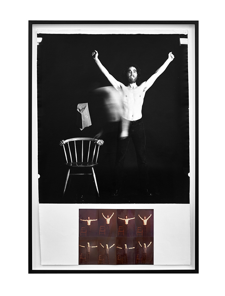 Denis Masi   Outing the Other  Performance for the Camera 1971 Black & white and colour photographs  106cm x 71.5cm x 4cm