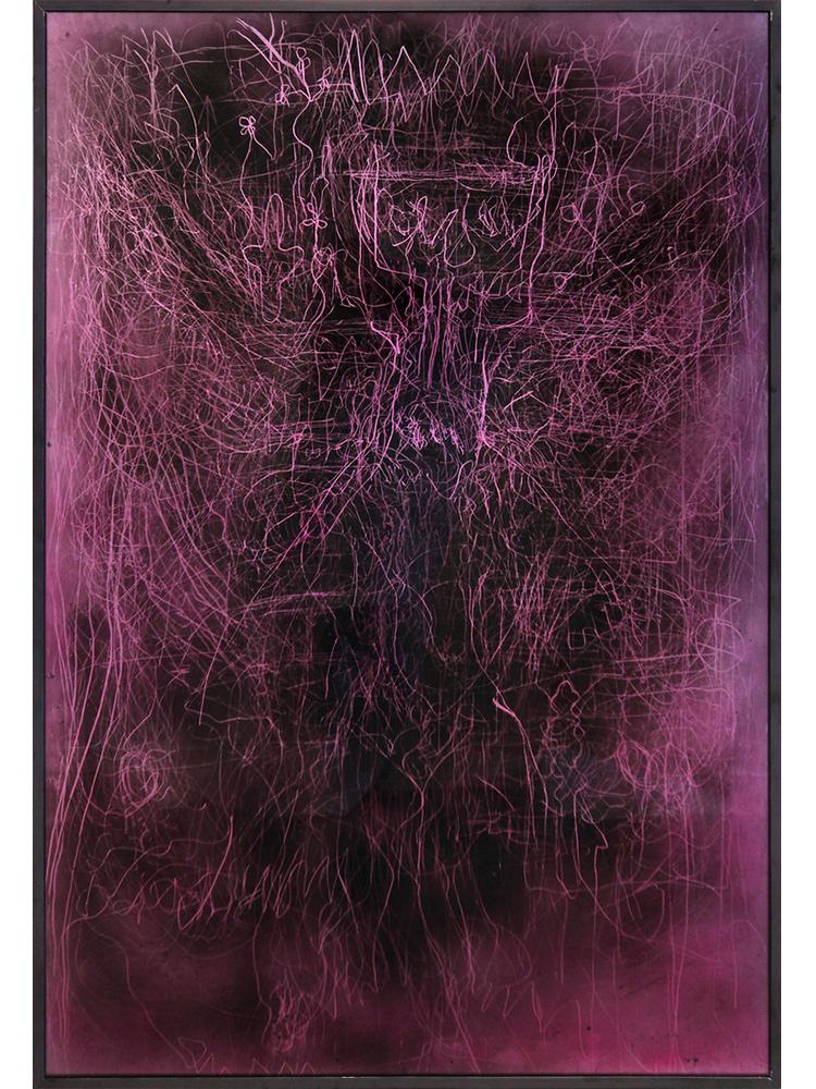 Edward Lipski   Mystical Vandalism IX  2015 Mirror perspex, custom car paint, steel  h148 x w101 cm