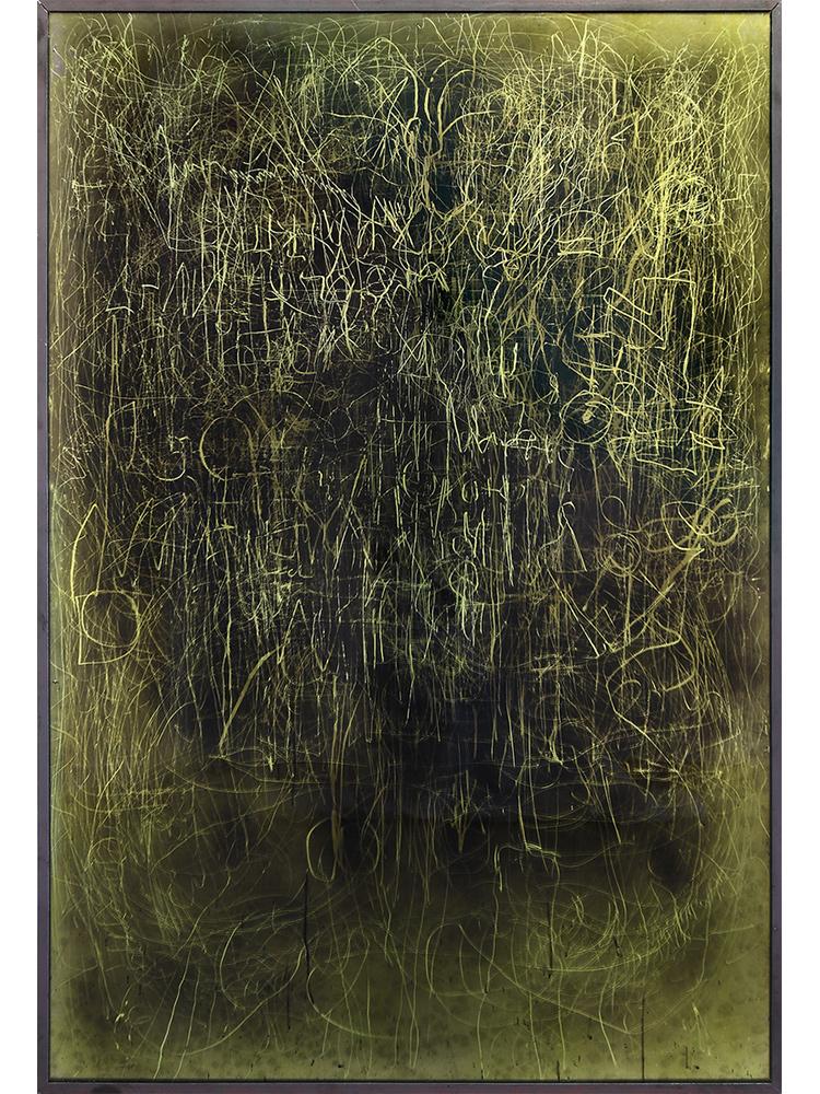 Edward Lipski   Mystical Vandalism VII  2015 Mirror perspex, custom car paint, steel h148 x w101 cm