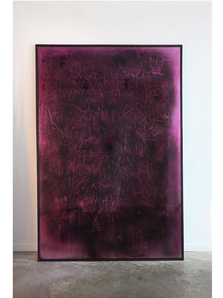 Edward Lipski   Mystical Vandalism VI  2015 Mirror perspex, custom car paint, steel h205 x w140 cm