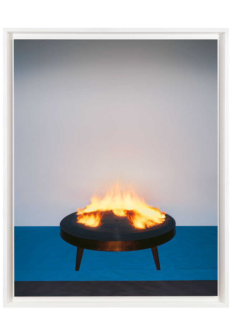 Marcus Tomlinson   Table Light    2000 Table by Hussein Chalayan C-type 129 x 105 cm