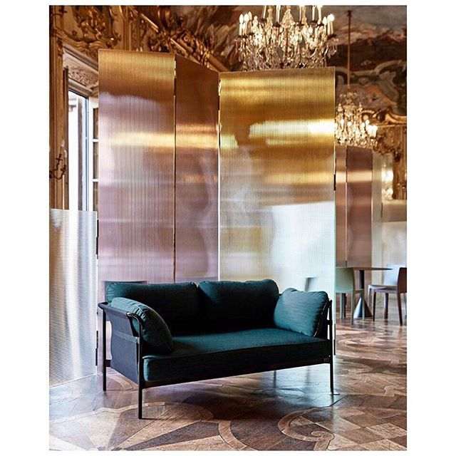 Final fave from Milano were these #flutedglass room dividers by @ronanerwanbouroullec for @haydesign staged amazingly in a Palazzo #haypalazzoclerici