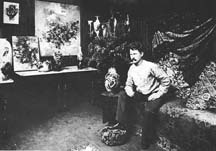 Franz Bischoff in his studio; Courtesy The Irvine Museum