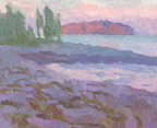 "Port Clyde Sunset, 7 1/2"" x 9 1/2"", Oil on panel, Eric Merrell"