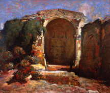 "Charles Percy Austin (1883-1948), San Juan Capistrano Mission, 1927; o/c, 30"" x 36"", Collection of The Irvine Museum"