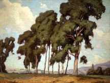 "Aaron Kilpatrick (1872-1953), Eucalyptus Trees, 1909, o/c, 36"" x 48"", Collection of The Irvine Museum"