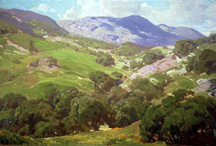 "Hanson Duvall Puthuff (1875-1972), Topanga in the Spring; o/c, 24"" x 36"", Collection of The Irvine Museum"