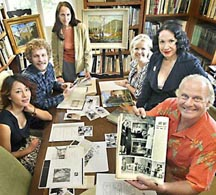 California Art Club members, from left, Barbara Chung, Eric Merrell, Monika Ramnath, Lisa Cavelier, Elaine Adams and Peter Adams.