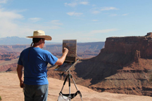 Frank G painting Canyonlands_s